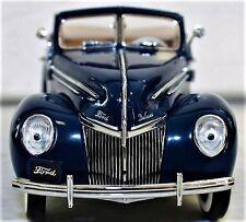 1930s Vintage Ford Sport Car 1 24 T GT A Antique Classic 12 Blue Model Metal 18