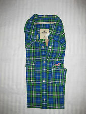 HOLLISTER BY ABERCROMBIE & FITCH DAMEN BLUSE FLANEL LONGARM GR XS S