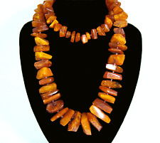 Natura succinico CATENA Natural Baltic Butterscotch & COGNAC AMBER NECKLACE 107 G