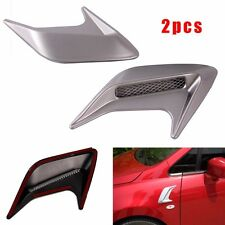 Side Body Marker Fender Air wing Silver Vent Trim Cover Chrome For All The Cars