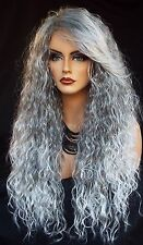 LONG CURLY COSTUME WIG HALLOWEEN PARTIES FANTASY *CHARCOAL ICE US SELL 367