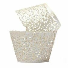 Cupcake Wrappers 100 Filigree Artistic Bake Cake Paper Cups Little Vine Lace