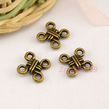 80Pcs Antiqued Bronze Chinese Knot Links Connectors 10mm A4820