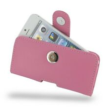 PDAir Leather Case Apple iPhone 5 5S - Horizontal Pouch Type - Petal Pink