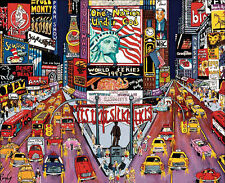 CITY LIGHTS JIGSAW PUZZLE NEW YORK CITY-RED, WHITE & BLUE ROXY 750 #2958-1