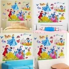 Removable Princess Prince Castle Wall Sticker Vinyl Mural Home Room Decor DIY UK