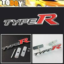 TYPE R 3D Metal Logo Car Front Hood Grille Grill Badge Emblem For Honda