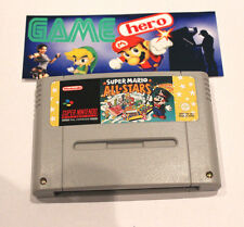 SUPER MARIO ALL STARS SNES SUPER NINTENDO PAL TESTED WORKING VERY RARE!