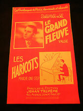 Partition Le grand fleuve Les haricots Christian Noel Music Sheet