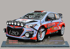 SORDO,HYUNDAI I20 WRC, RALLY MONTE CARLO 2015 -01,MODEL CARS with Clock