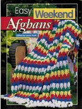 Easy Weekend Afghans 60+ Crochet PATTERMS Warm Blankets Cozy Wraps Lacy Throws