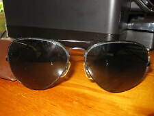 VINTAGE RAYBAN B & L BLACK ON BLACK AVIATORS SUNGLASSES WITH CASE 1980'S