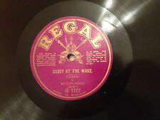 """MICHAEL CASEY (comedian) Casey At The Wake / Casey At Home  78rpm 10"""" c1916 EX"""