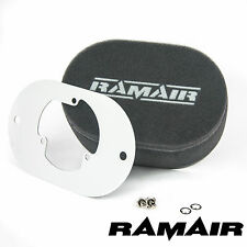RAMAIR Carb Air Filters With Baseplate Pierburg 2E2/2E3/2E-E 25mm Bolt On