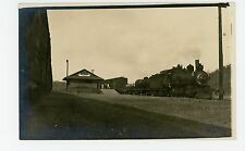 El Rosario Train Depot RPPC Rare Antique Sinaloa Railroad Photo SPRR 1910s