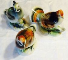 Vtg Armartcreation Japan Fine China Bob White Cal Quail Ruffled Grouse Figurines