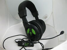 Turtle Beach X12 Amplified HD 50mm Stereo Gaming Headset Black Xbox 360
