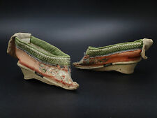 Anciennes chaussures Chinoise pieds bandés soie antique chinese silk bound feet