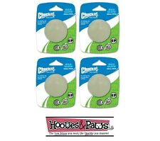 Chuckit Max Glow Ball Small 4pk Pack Dog Fetch Toy for in the Dark