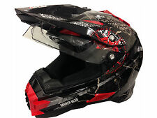 Moto Cross Quad ATV Helm Nikko Road Pirate - Doppel Visier - Größen XS bis XXL