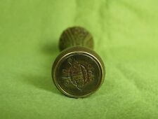 Antique 19th Century Art Nouveau Brass Floral Sealing Wax Stamp Seal