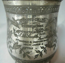 Victorian Silver Plated Mug Wycliffe College Gloucestershire A597817