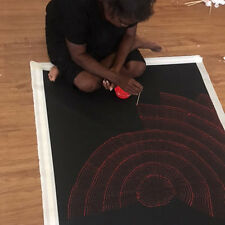 "ABORIGINAL ART PAINTING by LILY KELLY NAPANGARDI ""ROCK HOLES"" Authentic Artwork:"