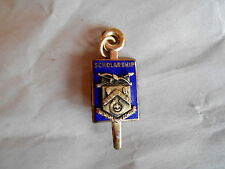 Vintage Newark High School Enamel Gold Filled Scholarship Key Charm Lapel Pin