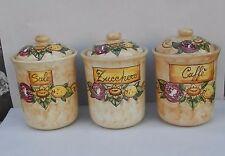 tris barattoli cilindro in ceramica  con guarnizione  AUSTRIA