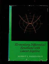 ELEMENTARY DIFFERENTIAL EQUATIONS WITH LINEAR ALGEBRA ----RABENSTEIN,