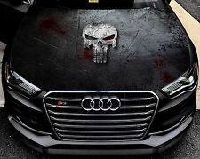 Vinyl Car Hood Full Color Graphics Decal Punisher Bloody Logo Sticker