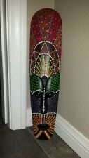 AFRICAN 20 X 5 Tribal Mask Wood Wall Decor