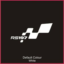 RS197 Bumper Flag Decal, Vinyl, Sticker, Graphics, Renaultsport, Clio, N2050