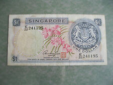 $1 Dollar Singapore Orchid series - E/22 241195 (VF)
