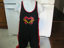 Diablos Devils Track & Field or wrestling team unitard singlet Large