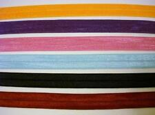 "12 yards Foldover Elastic Spandex 5/8"" Band 6 Colors/trim/notion/lace T155-Mix"