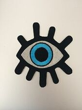 Big Bright Evil Eye Patch - Iron On Badge Embroidered Motif #120