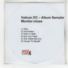 (FS927) Vatican DC, 6 track album sampler (Monitor mixes) - DJ CD