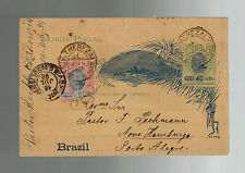 1898 Brazil Postal Stationery Postcard Cover Novo Hamburgo German Priest Pastor