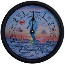 "9 1/2"" SEAHORSE TIDE CLOCK BY WEST & CO."