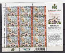 FRANCOBOLLI 2008 SAN MARINO PALLADIO 1 MINIFOGLIO CON CODICE A BARRE Z/5355