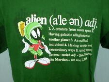 Warner Bros. Studio Store XL T-Shirt Marvin the Martian Alien Definition Green