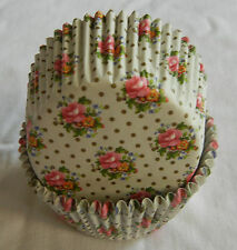 50 pcs CK156 - Red flower dot cupcake liner baking paper cup muffin case