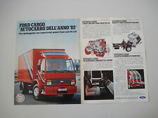 advertising Pubblicità 1982 AUTOCARRO FORD CARGO