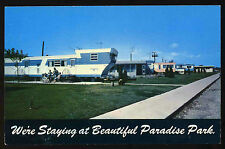 1960 Landola Travel Trailer Mobile Home @ Paradise Park Chicago Heights Postcard