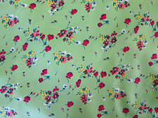"""Vintage Poly Knit Fabric Lovely Petite Floral Bright and Pretty 58"""" X 2.5 Yards"""