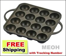 F/S from Japan NEW Japanese Oishii Takoyaki Grill Pan Maker 16 Cast YR-4259