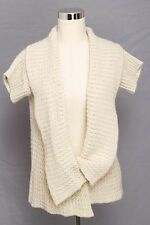 Katie Todd Size M Ivory Art to Wear Cardigan with Large Collar 245 L215