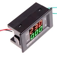 AC 300V 10A LED  Dual Digital Volt Meter Ammeter Voltage Power +Current Shunt #W