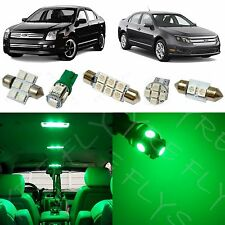 10x Green LED lights interior package kit for 2006-2012 Ford Fusion FF2G